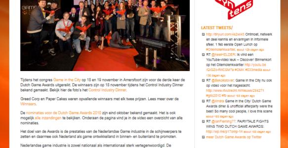 DutchGameAwards.nl